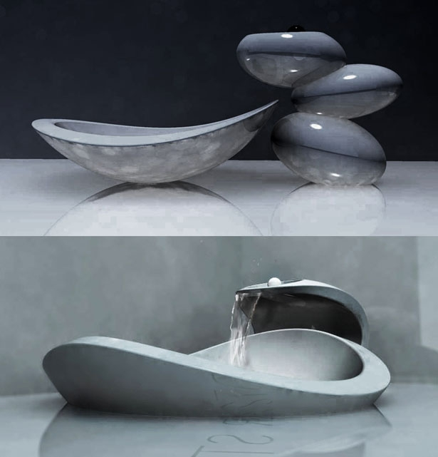 Unique stone bathroom sinks and faucets