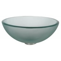 "GV-101FR-14 Frosted 14"" Glass Vessel Sink"