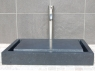 Rectangular Infinity Pool Sink - Honed Black Basalt