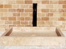 Rectangular Infinity Pool Sink - Honed Beige Travertine